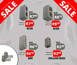 SALE. Blocks, Sand, Stone and Cement