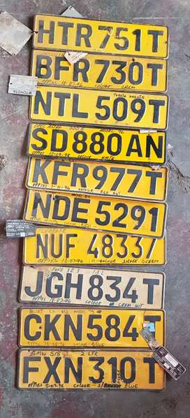 Old number plates for sale