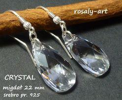 kolczyki Swarovski Migdał 22 kryształowe Crystal + srebro