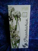 Ваза стеклянная для цветов. Вазон для орхидей.