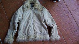 Beżowa zimowa kurtka damska M