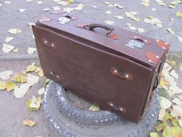Чемодан кожаный антикварный 40-х годов