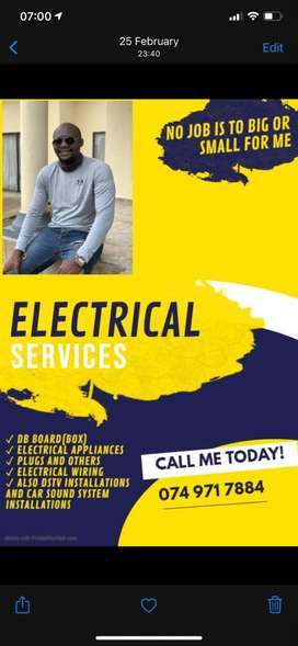 Any electrical job