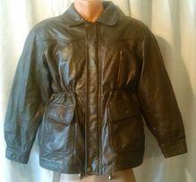 Куртка ACE Labor кожа коричневая мальчику рост 140-146