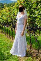 Suknia ślubna Iwon z Bella Rossa rozmiar 36/38, welon gratis