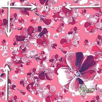 Materiał lub tapeta na zamówienie wzór: Różowy wzór kwiatowy