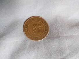 A 1919 commonwealth one penny