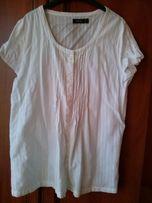 Bluzka biała ecru 42- 44 paprika L XL krotki rękaw wyprzedaż szafy