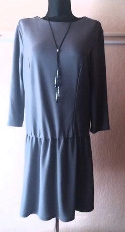 Платье серое, трикотажное, с заниженной талией 50 р Коломыя - изображение 2