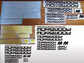 Morewood bicycle frame stickers decals graphics