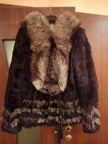 Шуба з гірського козлика/чорнобурка