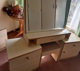 Ladies dressing table and side units