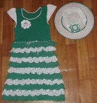 Красивое вязаное платье для маленькой принцессы