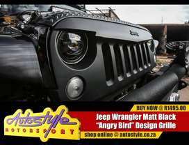 Jeep Wrangler Matt Black Angry Bird Grille Kit other accessories avaib