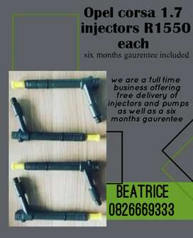 Opel corsa 1.7 injectors for sale