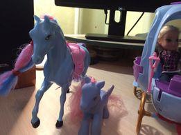 Карета, лошадь и пони! Шара!