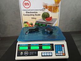 Веса, весы торговые новые (вага торгова) электронные товарные на 50кг