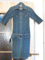 Платье джинсовое на металлических пуговицах р. 36 М