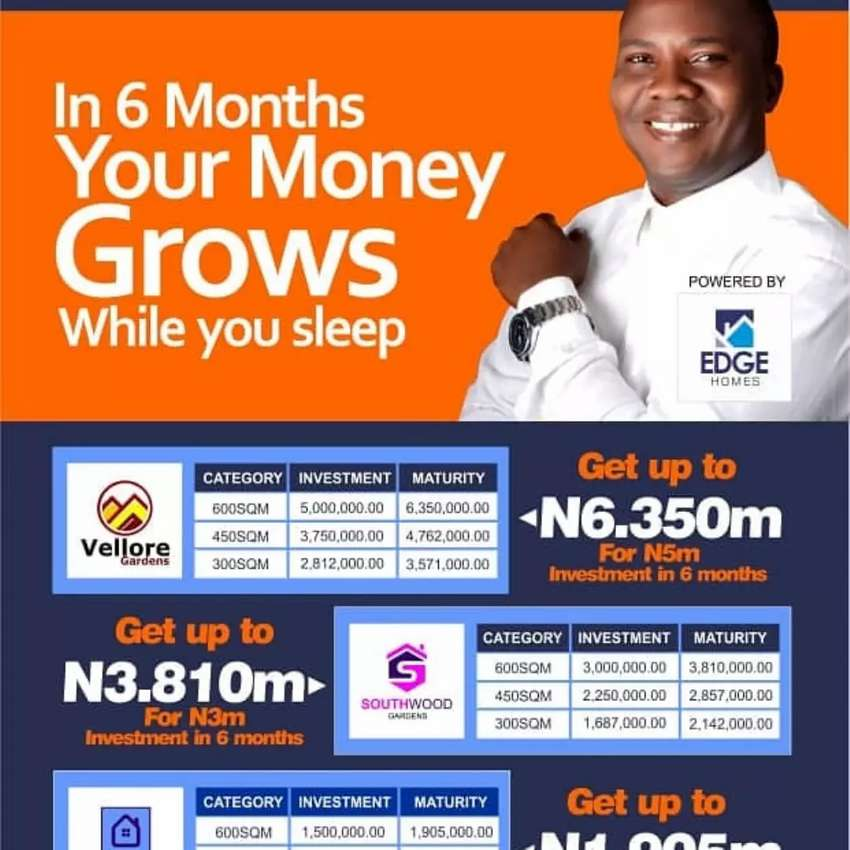 Land  investment growth in 6 months 0