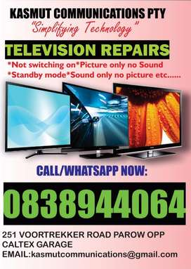 Repairs to all kinds of Tvs