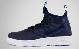 Buty Nike air force 1 ultra force mid niebieskie rozm. 45 NOWE wysokie