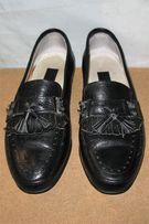 кожаные туфли мокасины Linea Uomo Italy кожаная подошва, б/у, рр.41
