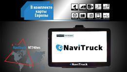 Навигатор GPS NaviTruck NT740ws для грузового транспорта карта Европы