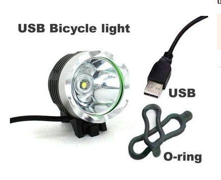 Вело фара USB 5 цвет CREE XM-L T6 LED 500Lm велосипед велофара фонарь Черкассы - изображение 4