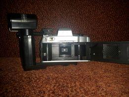 Stary aparat fotograficzny lustrzanka Sony antyk lampa błyskowa