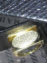 итальянское золотое кольцо авторская работа 54 бриллианта