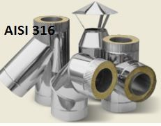 Димоходи серія PREMIUM AISI 316/Труба/Дымоходы нержавейка виробник