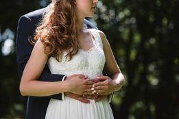 Śliczna suknia ślubna, elegancka sukienka na ślub