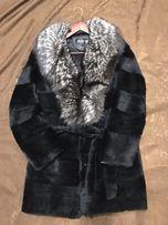 Шуба кролик чернобурка