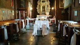 Zestaw ślubny rustykalny do kościoła