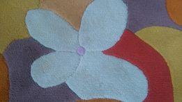 Kolorowy dywan kwiaty 140 x 200