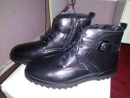 Зимние теплые ботинки новые кожа