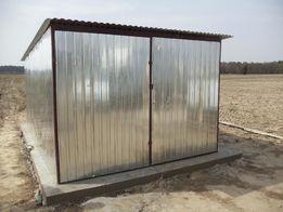 Garaż blaszany Blaszak Budowa Garaże blaszane na budowę PRODUCENT