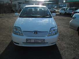 Toyota corolla 1.4 model 2006 white in colour