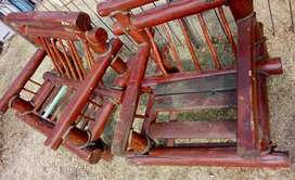 Out door sofas. wooden chairs