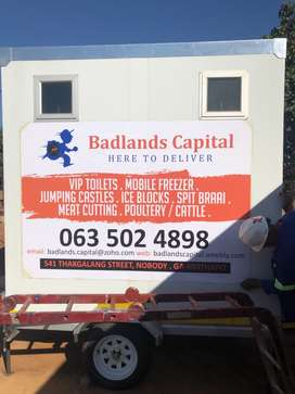 VIP Toilets and Mobile Chillers/Freezers for in Mankweng/POLOKWANE
