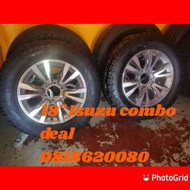 18'' new Isuzu mags and tyres available.