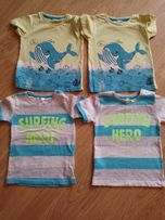 Bluzeczki blizniaki krotki rekaw 92