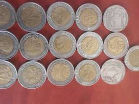 Mandela coins and old silver coins for