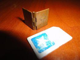 Старинная МИКРО металлическая книжечка-рамка,обмен на металлоискатель.