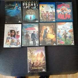 Disney Movies DVDs and 2 Blueray