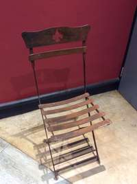 Image of 2 Steel Chairs with rusty finish
