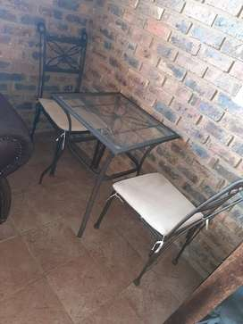 2 chairs and table for sale