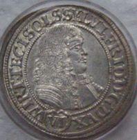 Moneta VI krajcarów 1674 r, Sylwiusz-Fryderyk Księstwo Oleśnickie