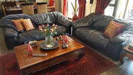 3 Seater and 2 seater couches. Genuine leather.