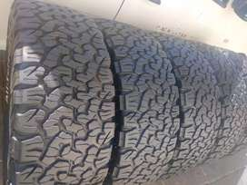 Five bfgoodrich ko2 sizes 285/65/18 now available